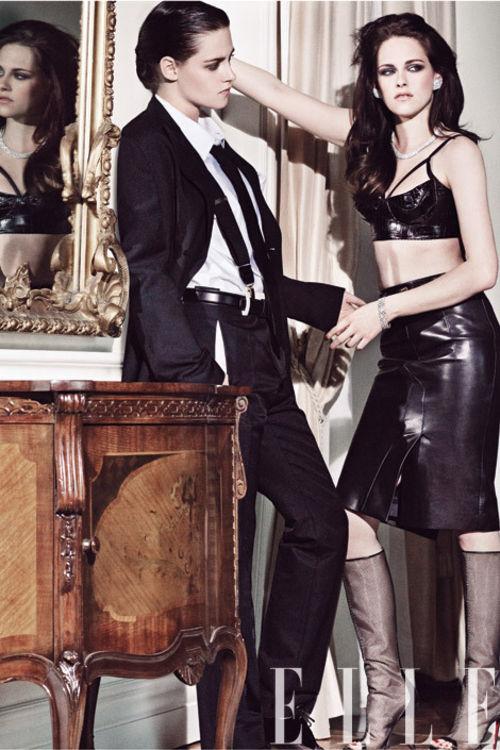 Kristen Stewart, Robert Pattinson, Charlize Theron - Kristen Stewart se viste de hombre para Elle
